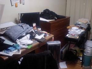 一週間前の部屋の状態